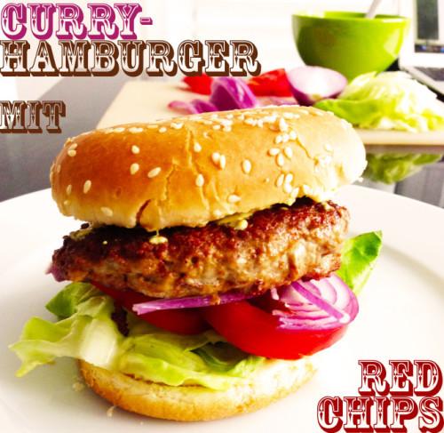 Bild für Curry-Hamburger mit Red Chips