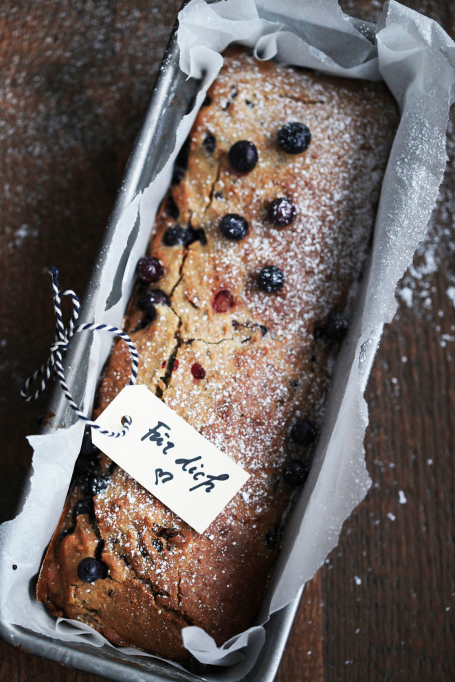 Healthy Blueberry and Buckwheat Cake
