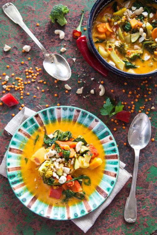 Bild für Gemüse-Curry mit Cashewnüssen