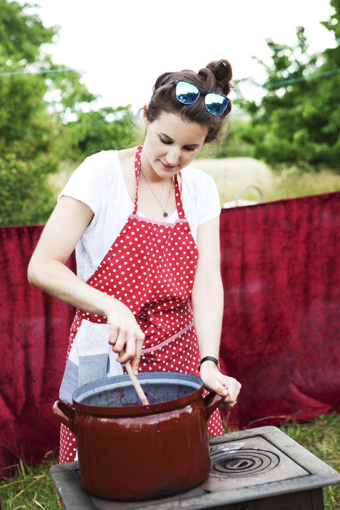 Kirschmarmelade beim Kirschenfest