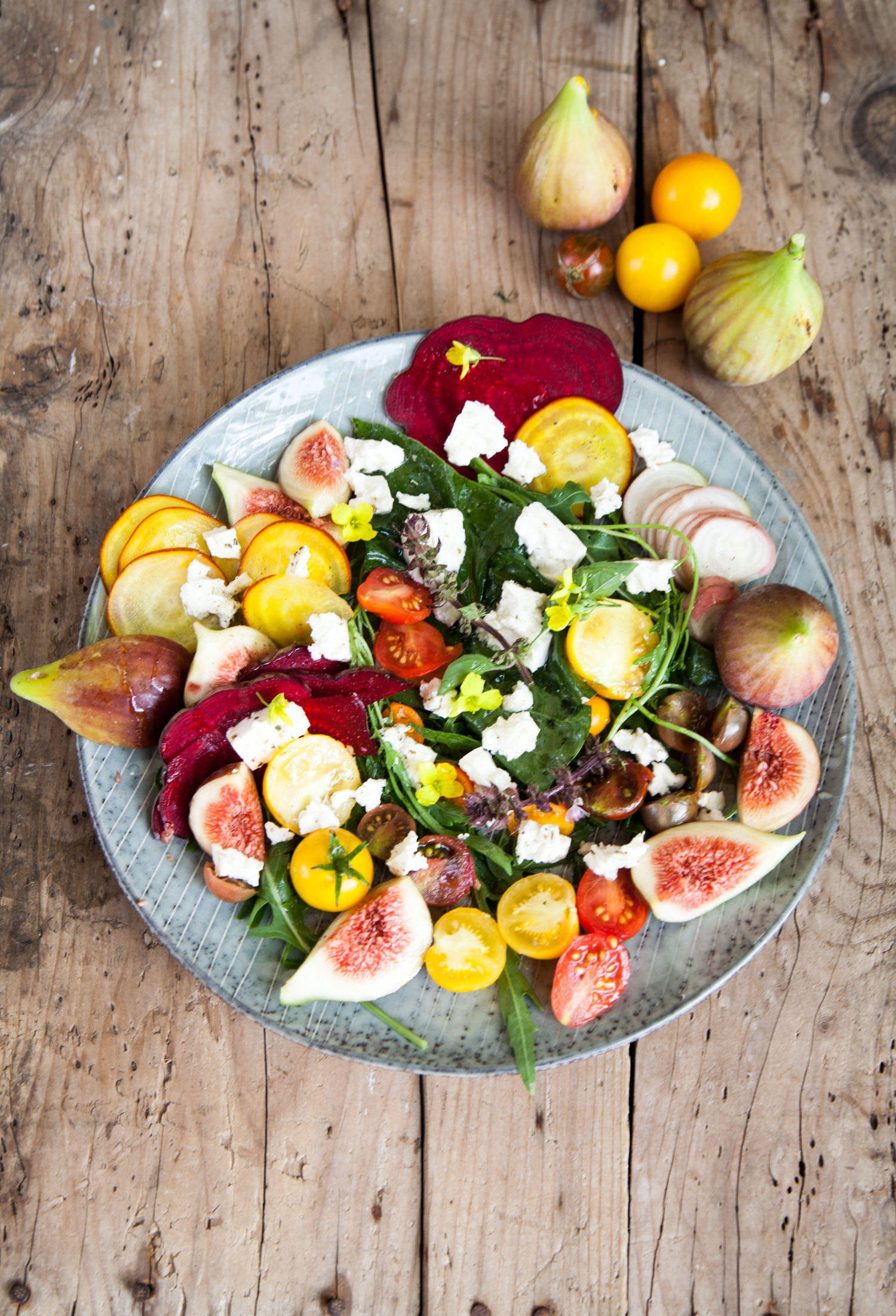 Colourful Root Vegetable and Fig Salad