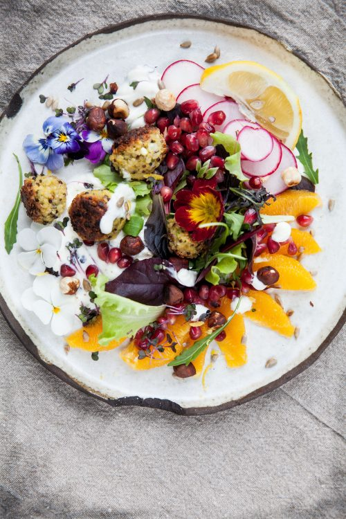 Picture for Quinoa Balls on a Colourful Bed of Leaves