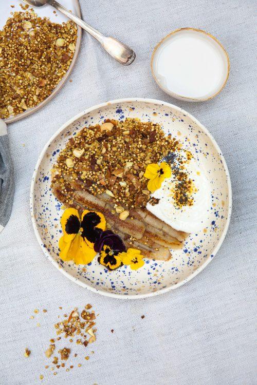 Bild für Kurkuma Granola mit glutenfreier Hafermilch